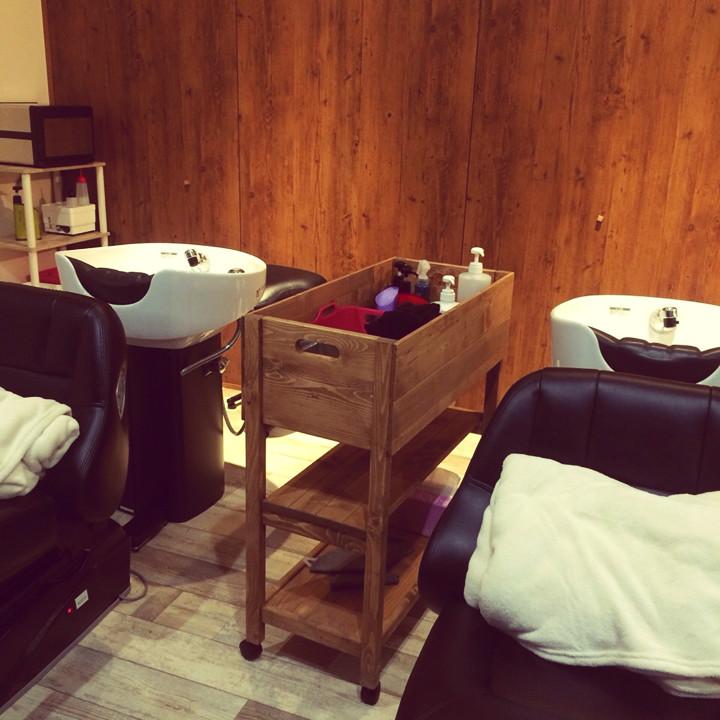 美容室Nanaヘアーサロンのインテリアコーディネート